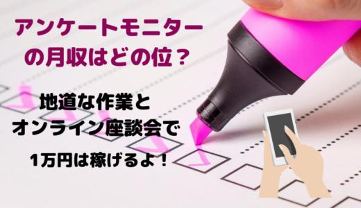 アンケートモニターの月収はどの位?地道な作業とオンライン座談会で1万円は稼げる!