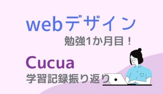 webデザインの勉強1ヶ月目!Cucua(ククア)の学習記録振り返りをまとめました